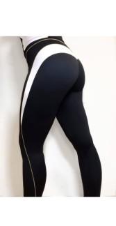 WALLDERINSKA Slimline leggings black/white - Slimline leggings/ S