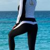 WALLDERINSKA Slimline leggings black/white