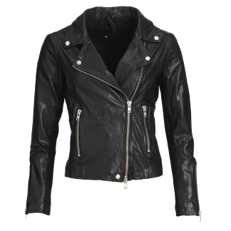 FRONTROW Bikery jacket black/ silver - Bikery jacket  silver/ 34