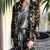 KARMAMIA Leopard Chain Ruffle Kimono - Leopard Chain Ruffle / M