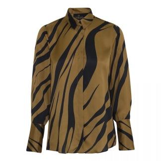 KARMAMIA Gold Tiger Zoe Shirt - Gold Tiger Zoe Shirt/ S
