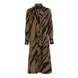 KARMAMIA Gold Tiger Ruffle Kimono - Gold Tiger Ruffle Kimono / S