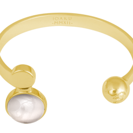 IOAKU  ARMBAND MOON CUFF GOLD/CLOUD