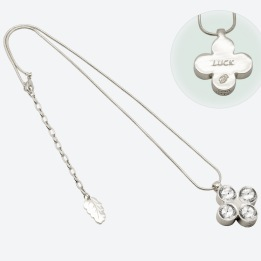 HALSBAND THE FOUR CLOVER AMULET 45 Silver/Klar