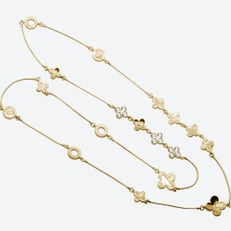 HALSBAND THE FOUR CLOVER ICONIC Guld/Klar