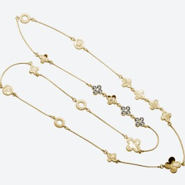 HALSBAND THE FOUR CLOVER ICONIC Guld/Rökfärgad