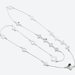 HALSBAND THE FOUR CLOVER ICONIC Silver/Klar