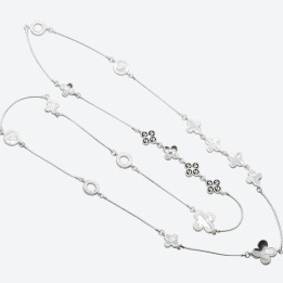 HALSBAND THE FOUR CLOVER ICONIC Silver/Rökfärgad