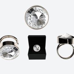 RING THE ZEN RING Silver/Klar