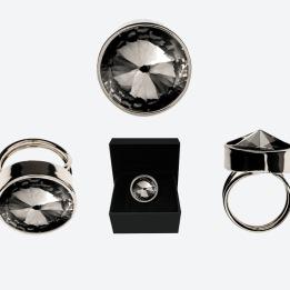 RING THE ZEN RING Silver/Rökfärgad