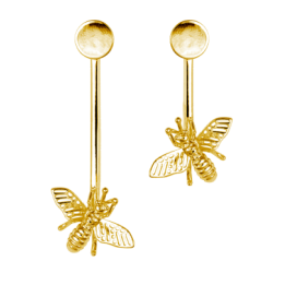 ÖRHÄNGEN INSECT EARRINGS GOLD