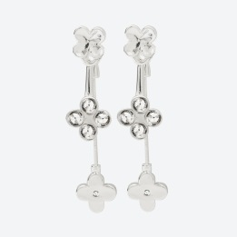 ÖRHÄNGEN THE FOUR CLOVER EARRINGS Silver/Klar