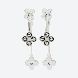 ÖRHÄNGEN THE FOUR CLOVER EARRINGS Silver/Rökfärgad