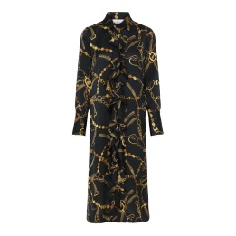 KARMAMIA Black Vintage Ruffle Kimono