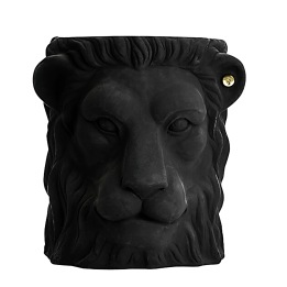 GARDEN GLORY Lion Pot Kruka S Svart