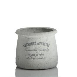 KRUKA SOFIA Cement med grå text