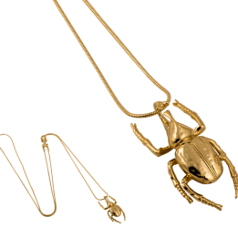 HALSBAND THE MINI BEETLE NECKLACE GOLD