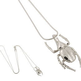 HALSBAND THE MINI BEETLE NECKLACE SILVER