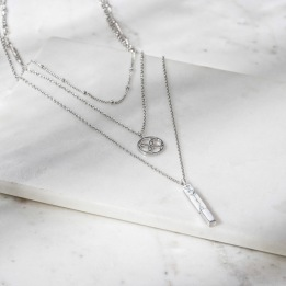 DAILY ELEGANCE Jaipur Necklace Silver