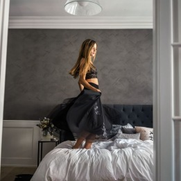 DAILY ELEGANCE Leilani Skirt Black