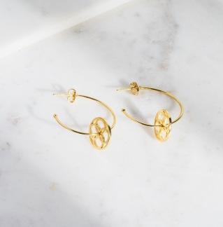 DAILY ELEGANCE Kawajita Earring - Kawajita Earring