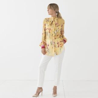 LES LEVRES Blus - Capri Bow Shirt S/M
