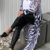 KARMAMIA Zebra Ruffle Kimono