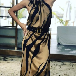 KARMAMIA Gold Tiger Dress
