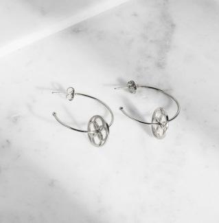 DAILY ELEGANCE Kawajita Earring Silver -