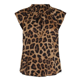 KARMAMIA Leopard Tie Blouse