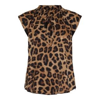 KARMAMIA Leopard Tie Blouse - Leopard Tie Blouse /  S-M