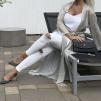 KARMAMIA Hailey Wrap Kimono – White Gold