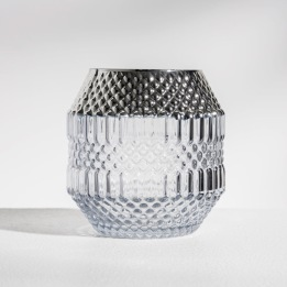 DAILY ELEGANCE Dolin Candle holder Grey/Silver