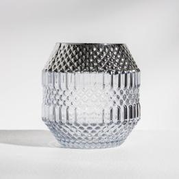 DAILY ELEGANCE Dolin Candle holder Grey/Silver