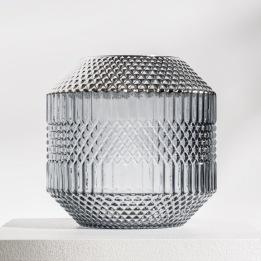 DAILY ELEGANCE Dolin Vase Grey/Silver