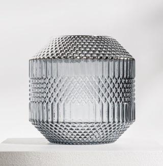 DAILY ELEGANCE Dolin Vase Grey/Silver -