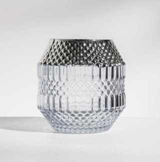 DAILY ELEGANCE Dolin Candle holder Grey/Silver -
