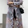 KARMAMIA Chevron Ruffle Kimono