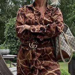 KARMAMIA Giraffe Ruffle Kimono