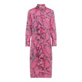 KARMAMIA Vintage Pink Ruffle Kimono