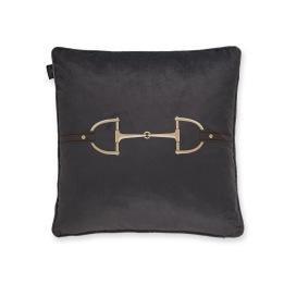 ADAMSBRO Velvet Snaffle Bit Cushion Grey