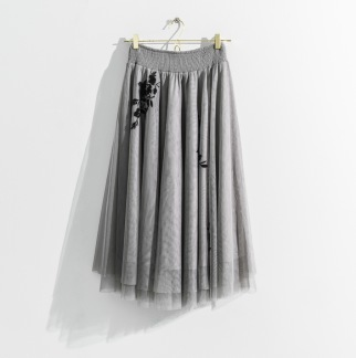 DAILY ELEGANCE Leilani Skirt Dove Grey -