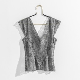 DAILY ELEGANCE Laos Top Dove Grey