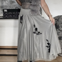 Leilani Skirt Dove Grey DAILY ELEGANCE
