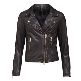 A FRONTROW Bikery Jacket Dk Brown Gold