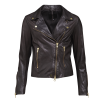 FRONTROW Bikery Jacket Dk Brown Gold - BIKERY JACKET  BROWN / 42