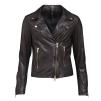 A FRONTROW Bikery Jacket Dk Brown Gold - BIKERY BROWN / 40