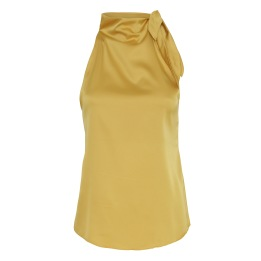 KARMAMIA Ribbon Top – Golden Yellow