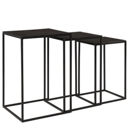 ARTWOOD NOVA SIDE TABLE 3/S BLACK