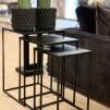 ARTWOOD NOVA SIDE TABLE 3/S BLACK